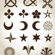 Set of traditional architectural emblems — Stock Vector