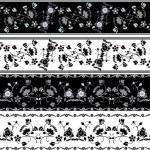 Floral ornament stencil set for design — Stock Vector