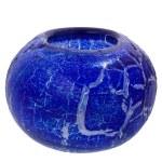 Decorative glass vase on isolated white — Stock Photo