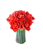 Candle in shape of bouquet of flowers — Stock Photo