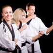 In kimono martial arts exercise - Stock Photo