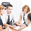 Manager with office workers on meeting — Stock Photo #3641162