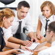 Manager with office workers — Stock Photo #3660102