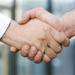 Handshake between office workers — Stock Photo #3664543