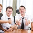 Business team express positivity on meetingin board room — Stock Photo #3671637