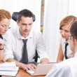 Manager with office workers on meeting — Stock Photo #3671642
