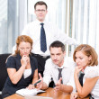 Manager with office workers on meeting — Stock Photo #3690877