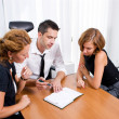 Manager with office workers on meeting — Stock Photo #3690879