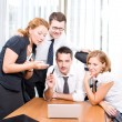 Manager with office workers on meeting — Stock Photo #3690886