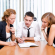 Manager with office workers on meeting — Stock Photo #3690889