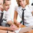 Office worker on meeting — Stock Photo