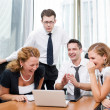 Manager with office workers — Stock Photo #3781185