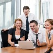 Manager with office workers on meeting — Stock Photo #3820108