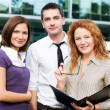 Group of office workers outdoor — Stock Photo #3845580