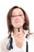 Magnifying glass — Foto de Stock