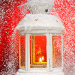 Christmas lamp - Stock Photo