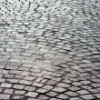 Bright old brick paved road — Stock Photo