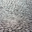 Stock Photo: Bright old brick paved road