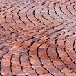 Red brick paved road pattern — Stock Photo