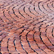 Stock Photo: Red brick paved road pattern