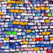 horizontal colorful mosaic texture on wall — Stock Photo #3685035