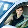 Woman Driving Her Car — Stock Photo #3535836