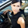 Sexy businesswoman in the car — Stock Photo #3555837