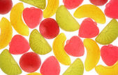Fruit candies on a white background. — Stock Photo