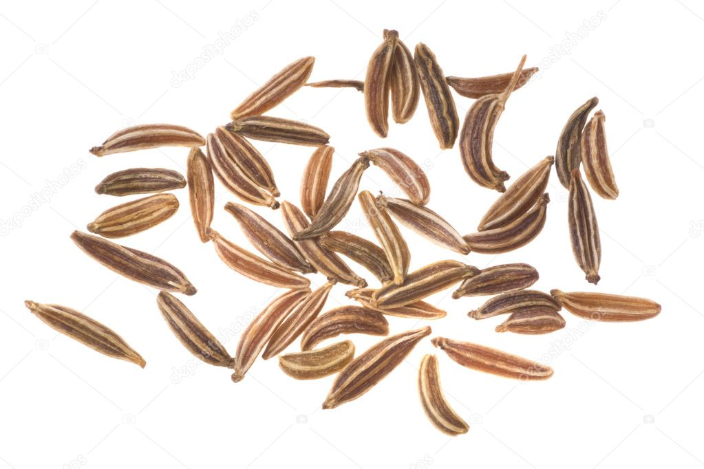 Caraway seeds on a white background — Stock Photo #3781352
