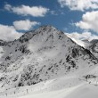 Snowy mountains peak in Andorra - Stock Photo