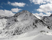 Snowy mountains peak in Andorra — Stock Photo