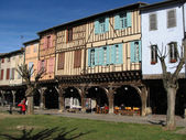 Medieval houses in Mirepoix. — Stock Photo