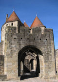Entrance to the castle of Carcassonne. — Stock Photo