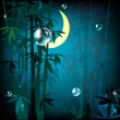 Night rainforest — Stockvectorbeeld