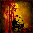 Royalty-Free Stock Vektorgrafik: Pandas in the  bamboo forest