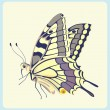 Eastern Tiger Swallowtail butterfly — Stock Vector