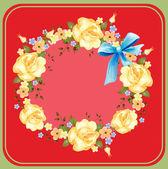 φόντο με τριαντάφυλλα — Διανυσματικό Αρχείο