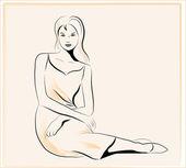 Beautiful women — Stock Vector
