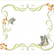 Floral frame with butterflies — Stock Vector #3350891