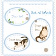Set of labels - Imagen vectorial