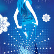 Girl over winter background — Imagens vectoriais em stock