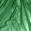 Smooth elegant green silk — Stock Photo