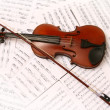 Stock Photo: Violin and music shee