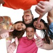 Happy boys and girls smiling — Stock Photo #2707693