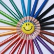 Pencils and smile — Stock Photo