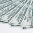 Big pile of money. stack of american dollars — Stock Photo