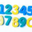 Numerals on the white background — Stock Photo