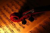 Violin and music sheet — Stock Photo