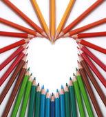 Assortiment van kleurpotloden — Stockfoto