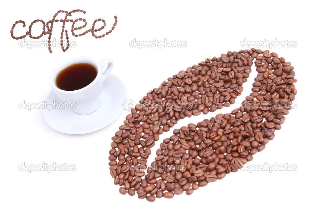 Coffee bean made of coffee beans  Stock Photo #2709721